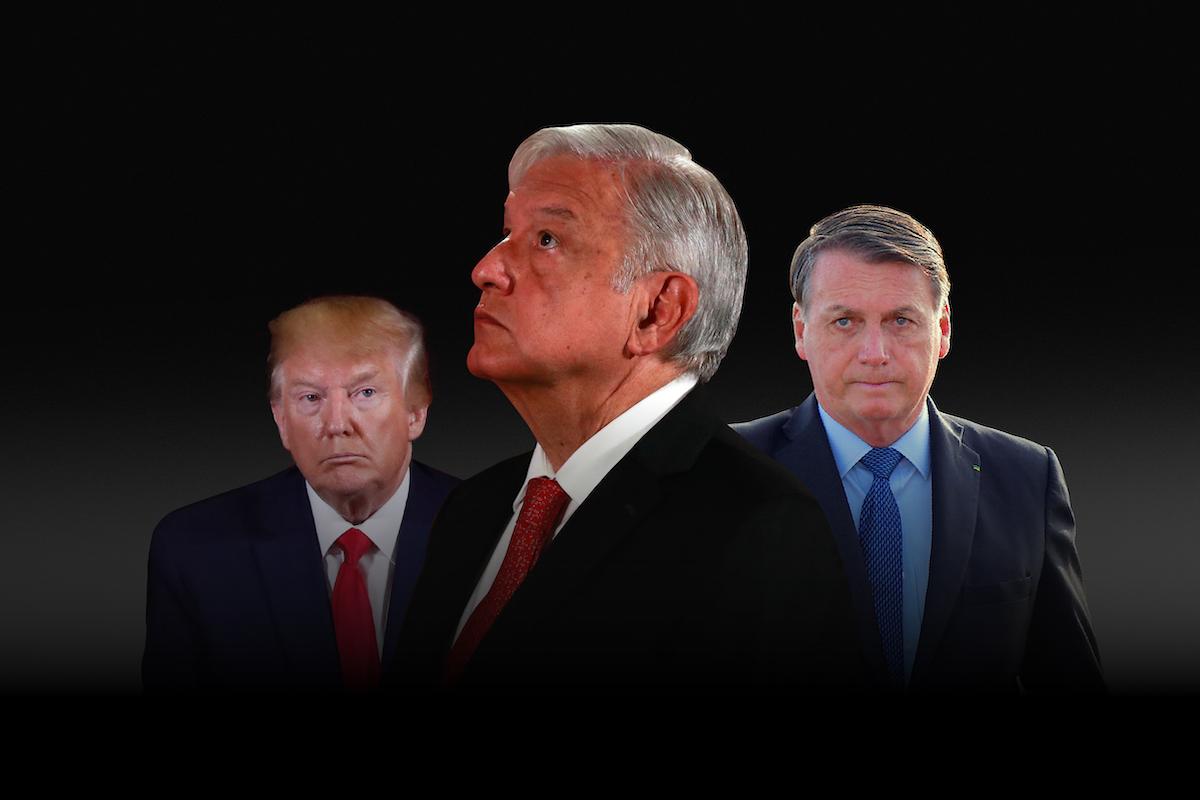 Los presidentes de países con más muertes por Covid en América no usan cubrebocas