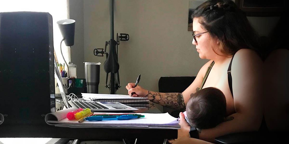 Profesor prohíbe a alumna amamantar a su bebé durante una clase online