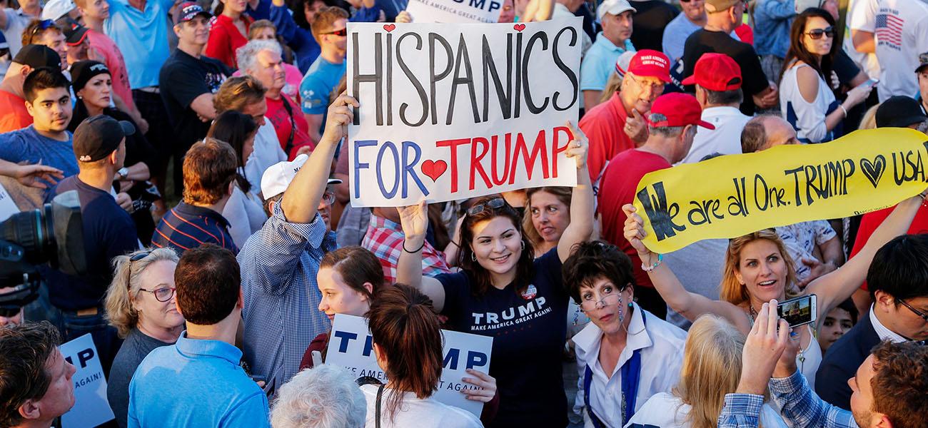 Latinos votan por Trump