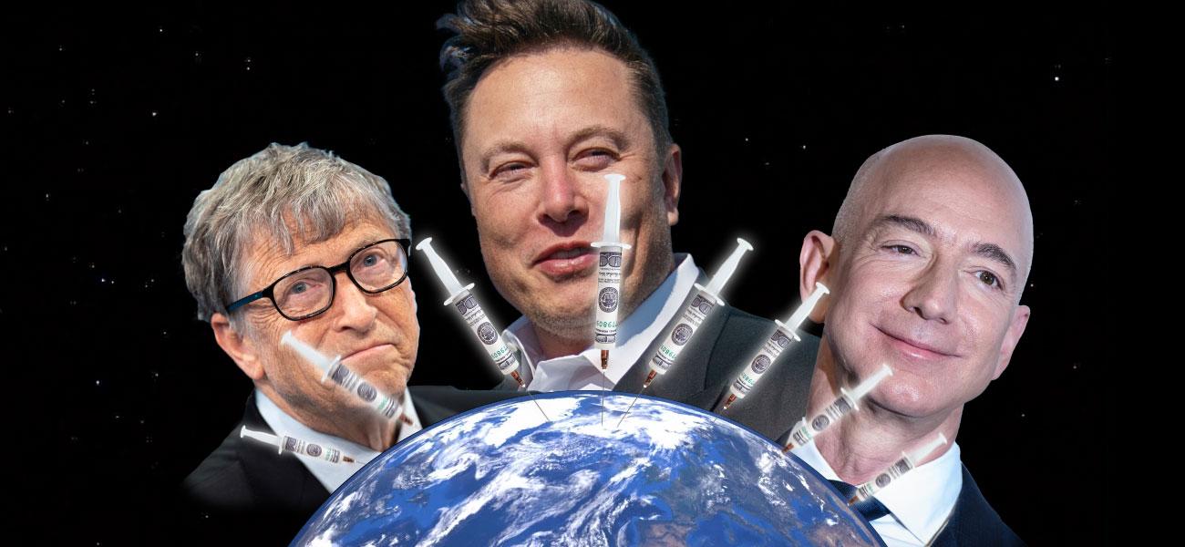 Los diez más ricos del mundo ganaron lo suficiente en 2020 como para pagar vacunas para toda la humanidad